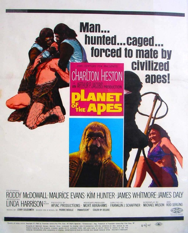One of the US posters for PLANET OF THE APES